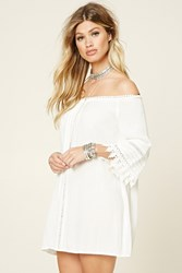 Forever 21 Off The Shoulder Crochet Dress