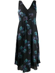 Vince Abstract Print Pleated Dress 60