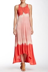 American Twist Tie Dye Hi Lo Maxi Dress Pink
