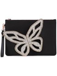 Sophia Webster Embellished Butterfly Clutch Black