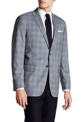 Todd Snyder Plaid 2 Button Trim Fit Wool Sport Coat Gray