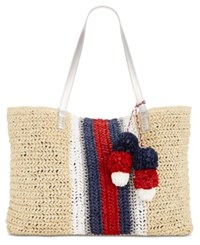 Inc International Concepts I.N.C. Bettsi Stripe Straw Tote Natural