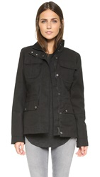Hunter Womens Original Winter Utility Jacket Black