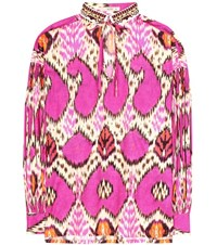 Etro Printed Cotton Top Pink