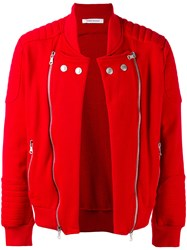 Balmain Pierre Quilted Detail Jacket Red