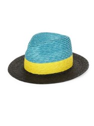 Paul Smith Tri Block Woven Hat Black Tan Red Blue Yellow Black