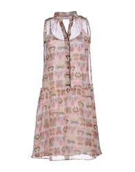 Caractere Dresses Short Dresses Women Light Pink