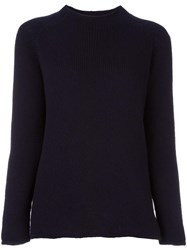 Apuntob High Neck Jumper Blue