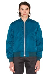 Maiden Noir Satin Bomber Blue