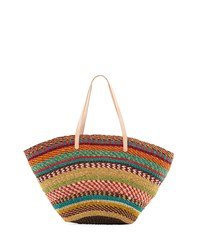 Flora Bella Pensacola Multicolor Woven Abaca Beach Tote Bag