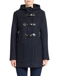 Michael Michael Kors Hooded Toggle Coat Navy