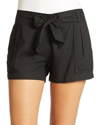 Jessica Simpson Petra Belted Shorts Black