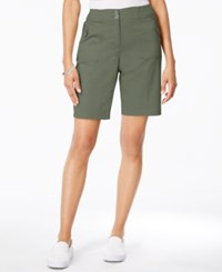 Karen Scott Ribbed Waistband Bermuda Shorts Only At Macy's Olive Vine
