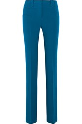 Altuzarra Serge Stretch Crepe Flared Pants Bright Blue