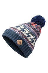 The North Face Fair Isle Deep Fit Beanie Blue Blue Wing Faded Rose Multi