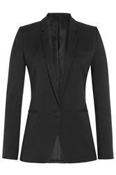 The Kooples Stretch Linen Blazer Black