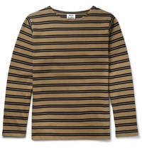 Acne Studios Nimes Striped Cotton Jersey T Shirt Beige