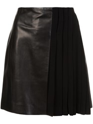 Thierry Mugler Pleated Detailing Skirt Black