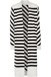 Diane Von Furstenberg Carlisle Striped Silk Blend Cardigan Black