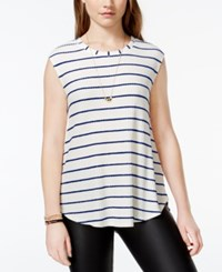 One Clothing Juniors' Striped Waffle Knit Tank Top