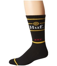 Huf Can Crew Sock Black Crew Cut Socks Shoes