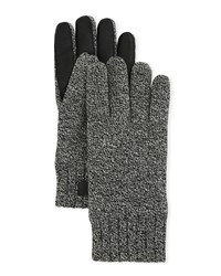 Ugg Knit Touchscreen Gloves With Conductive Leather Palm Multi