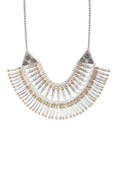 Lucky Brand Modern Metal Bib Necklace Metallic