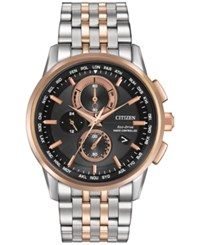 Citizen Men's Chronograph Eco Drive Stainless Steel Bracelet Watch 43Mm At8116 57E
