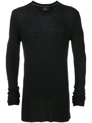 Lost And Found Ria Dunn Elongated Sleeves Slim Fit Jumper Men Polyamide Viscose Angora S Black