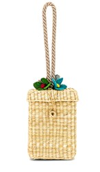 Nannacay Guta P Flores Bag In Tan. Natural
