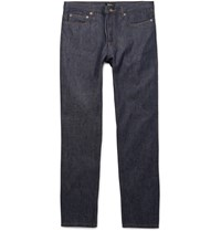 A.P.C. Petit Low Standard Slim Fit Dry Denim Jeans Indigo
