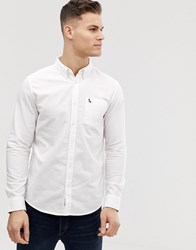 Jack Wills Wadsworth Oxford Plain Shirt In White