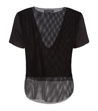Koral Double Layer Mesh Tee Female Black