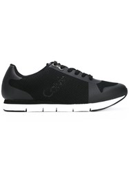Calvin Klein Jeans Logo Mesh Trainers Men Cotton Synthetic Resin Rubber 41 Black