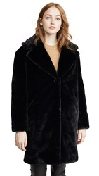 Adrienne Landau Faux Fur Tailored Jacket Black