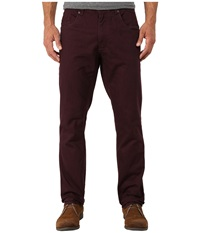 Calvin Klein Jeans Five Pocket Slub Twill Slim Straight Bordeaux Men's Casual Pants Burgundy