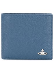 Vivienne Westwood 'Milano' Billfold Wallet Men Leather One Size Blue