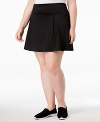 Ideology Plus Size Space Dyed Pleated Skort Created For Macy's Noir
