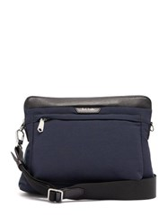 Paul Smith Leather Trimmed Cross Body Bag Blue