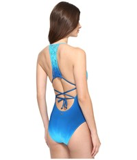 Nanette Lepore Solola Goddess Mio One Piece Turquoise Women's Swimsuits One Piece Blue
