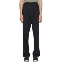 Lanvin Navy Pleated Trousers
