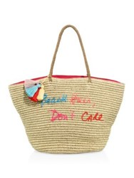 Rebecca Minkoff Beach Hair Don't Care Straw Tote Natural