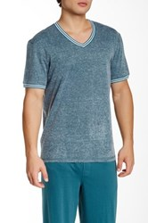 Original Penguin V Neck Short Sleeve Tee Blue