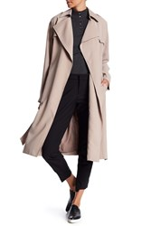 Cole Haan Drapey Belted Trench Coat Sand