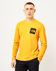 The North Face Black Label Long Sleeve Fine T Shirt Yellow