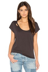 Chaser Deconstructed Shirttail Tee Black
