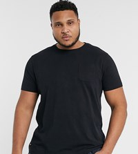 Threadbare Plus Basic T Shirt With Pocket In Black