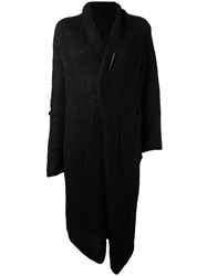Isabel Benenato Open Cardi Coat Black