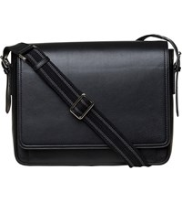 Mon Purse Men's Leather Messenger Bag Black