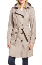 London Fog Double Breasted Trench Coat Rosewood